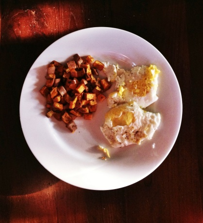 sweet potatoes-eggs