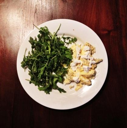 eggs-arugula