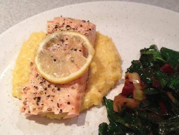 salmon-polenta
